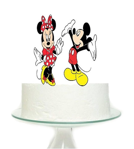 Mickey and Minnie Big Topper for Cake - 2 pcs set