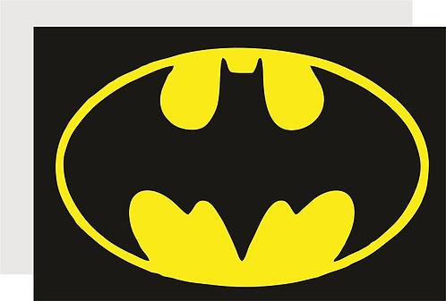 Batman Logo Invitations - 12 pcs party invites