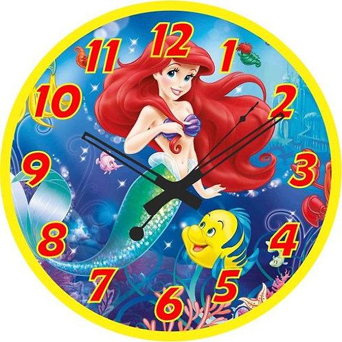 Ariel Little Mermaid Clock