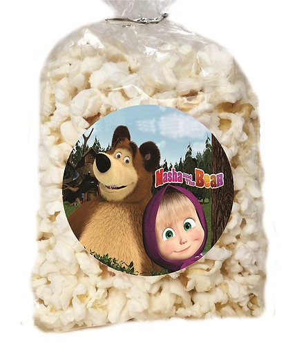 Masha and the Bear Giveaways Clear Bags for Popcorn or Candies - 12 pcs set