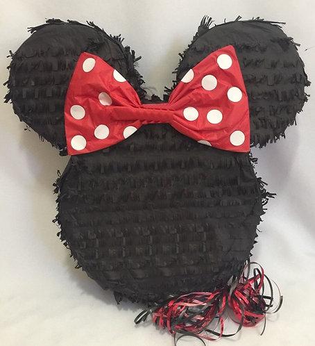 Minnie Head Party Pull Strings Pinata - 40cm