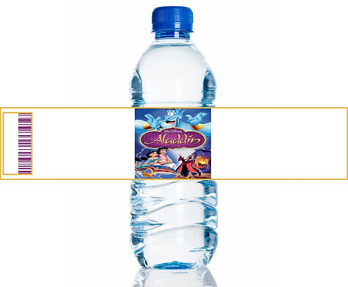 Jasmin Aladdin Water Bottles Stickers - 6 pcs set