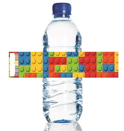 Lego Blocks Bottles Stickers - 6 pcs set