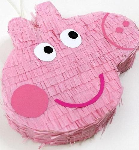 Peppa Pig Head Birthday Party Pull Strings Pinata - 40cm