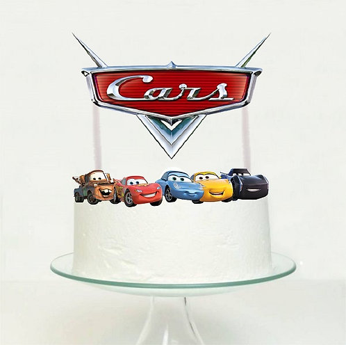 Cars Big Topper for Cake - 6 pcs set