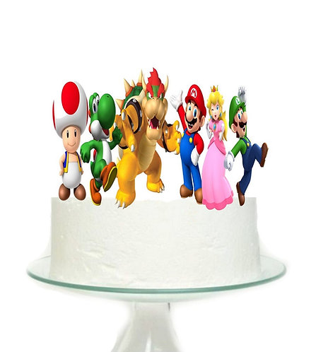 Mario Game Big Topper for Cake - 6pcs set
