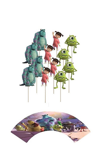 Monsters Inc Characters Cupcakes Toppers or Wrappers -12 or 24 pcs