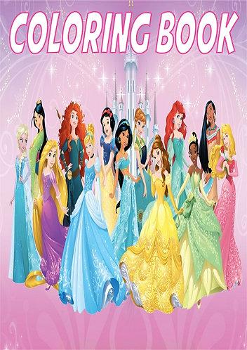 Princess Small Coloring Book