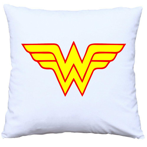 Wonder Woman DC Girls Logo Cushion Decorative Pillow - 40cm