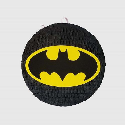 Batman Bat Birthday Party Pull Strings Pinata Round -35 cm