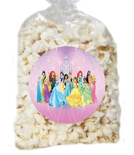 Princess Giveaways Clear Bags for Popcorn or Candies - 12 pcs set