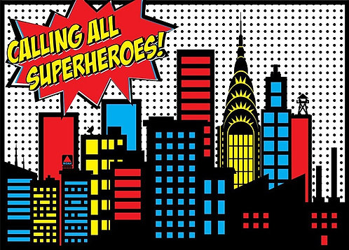 Superheroes Invitations - 6pcs party invites