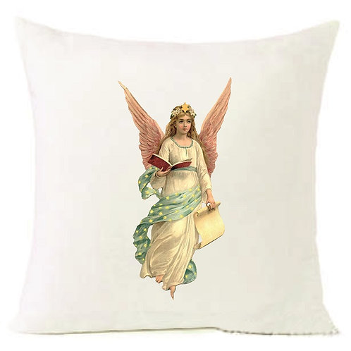 Christmas Angel Cushion Decorative Pillow COTTON OR LINEN - 40cm