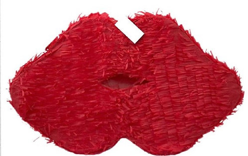 Red Lips Valentine or Bachelorette Party Pull Strings Pinata - 40cm