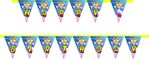 Baby Shark HAPPY BIRTHDAY Banner