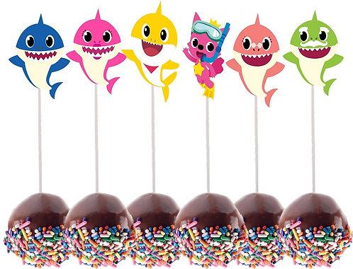 Baby Shark Cakepops Toppers - 12 pcs set