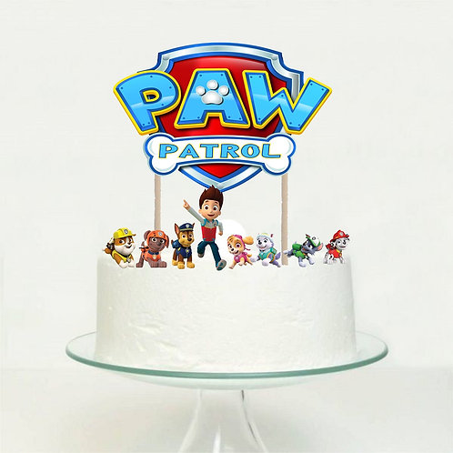 Paw Patrol Big Topper for Cake - sets 9pcs set
