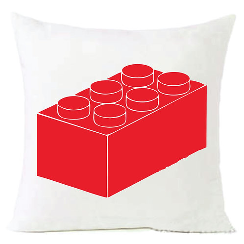 Red Lego Block Cushion Decorative Pillow - 40cm