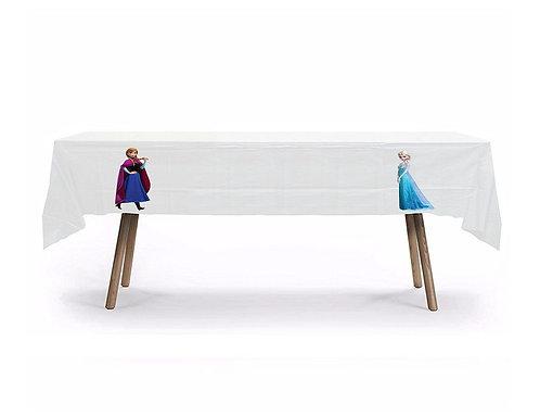Frozen Princess Elsa Ana Plastic Table Cover with Stickers - 140 cm x 275cm