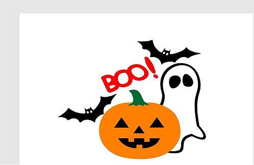 BOO  Halloween Invitations - 6pcs party invites