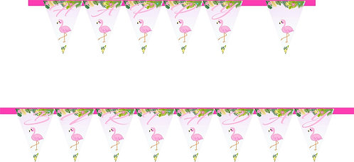 Flamingo HAPPY BIRTHDAY Banner