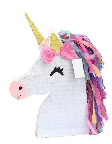 Unicorn Head Birthday Party Pull Strings Pinata - 40cm