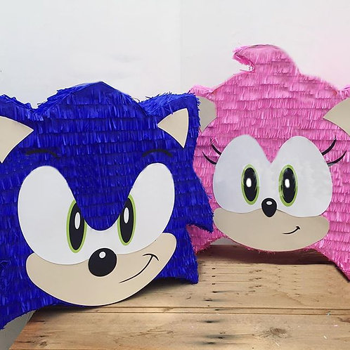 Sonic Game or Amy Birthday Party Pull Strings Pinata - 40 cm