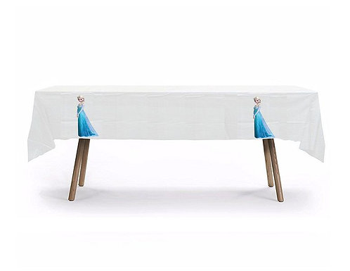 Frozen Princess Elsa Plastic Table Cover with Stickers - 140 cm x 275cm
