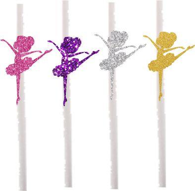 Pink Purple Silver Gold Cakepops Toppers - 12 pcs set