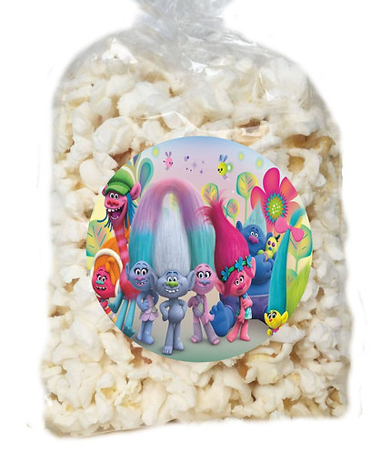 Trolls Giveaways Clear Bags for Popcorn or Candies - 12 pcs set