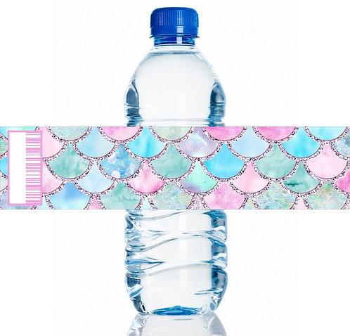 Mermaid Water Bottles Stickers - 6 pcs set