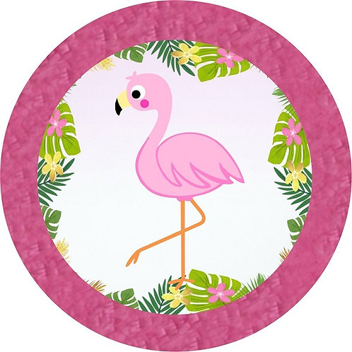 Flamingo Birthday Party Pull Strings Pinata -35cm