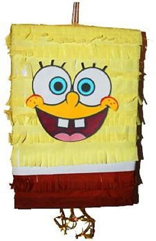 Spongebob Birthday Party Pull Strings Pinata - 40cm