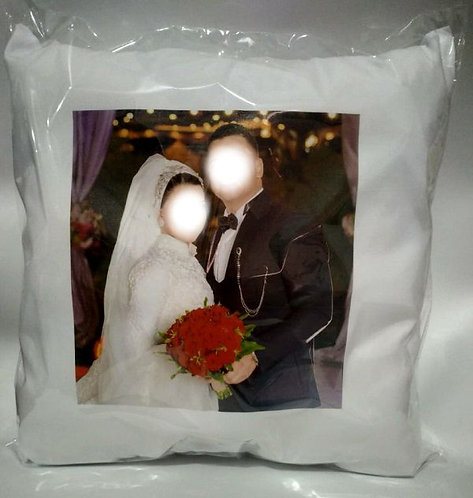 Custom Engagement / Wedding Cushion Decorative Pillow - 40cm
