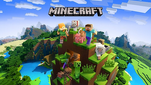 Minecraft Invitations - 6pcs party invites
