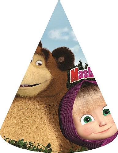 Masha and the Bear Party Hats - 6pcs