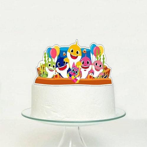 Baby Shark Big Topper for Cake - 1 pcs set