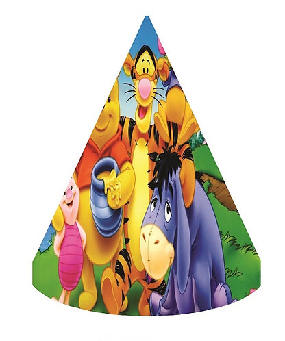Winnie the Pooh Party Hats - 6pcs
