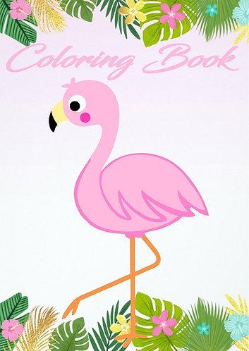Flamingo Small Coloring Book
