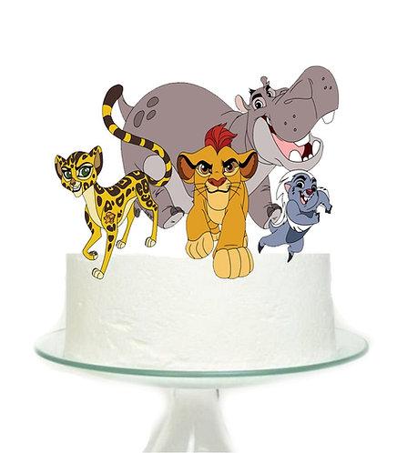Lion King Lion Guard Big Topper for Cake - 1pcs set