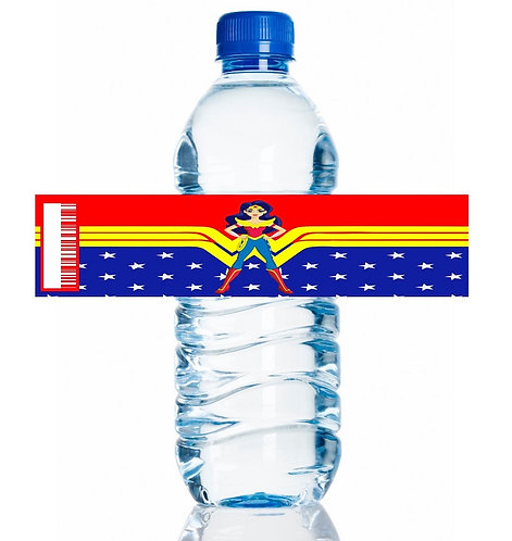 Wonder Woman DC Girls Water Bottles Stickers - 6 pcs set