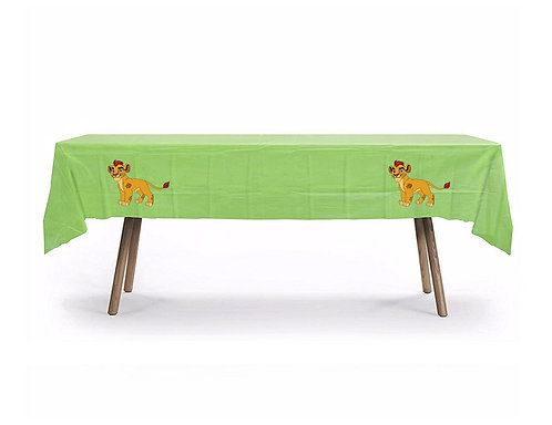 Lion Guard Lion king Plastic Table Cover with Stickers - 140 cm x 275 cm