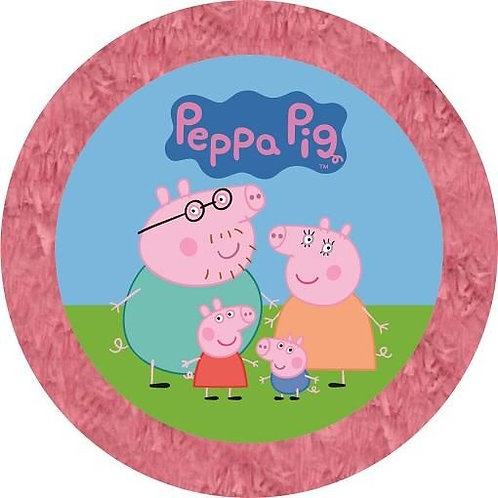 Peppa Pig Birthday Party Pull Strings Pinata - 35cm