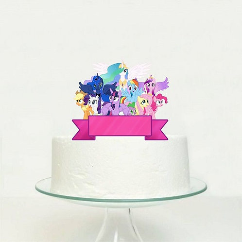 My little Pony Big Topper for Cake - 1 pcs set
