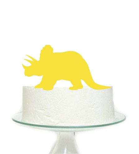 Yellow Dinosaur Big Topper for Cake - 1 pcs set