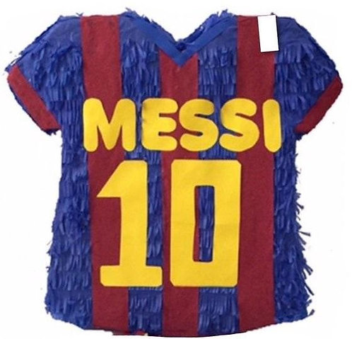 Football Soccer MESSI T Shirt Birthday Party Pull Strings Pinata - 40