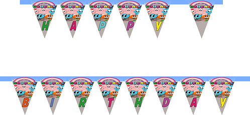 Gumball HAPPY BIRTHDAY Banner