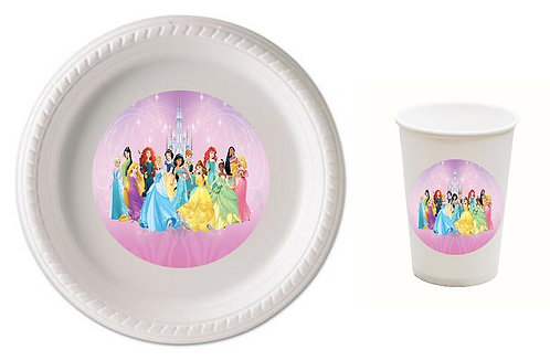 Princess Plastic Plates with Cups