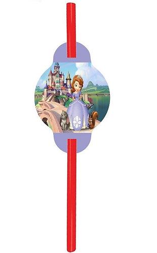 Princess Sofia the First Straws - 12 pcs set