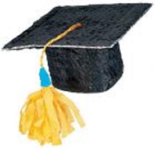 Graduation Hat Party Pull Strings Pinata - 35 cm